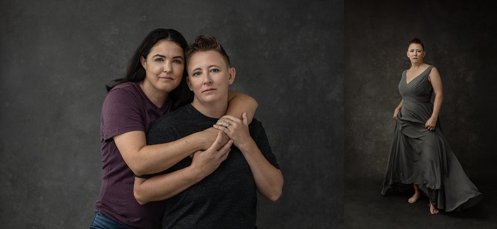Casual portraits for a same sex couple - tenth anniversary photos